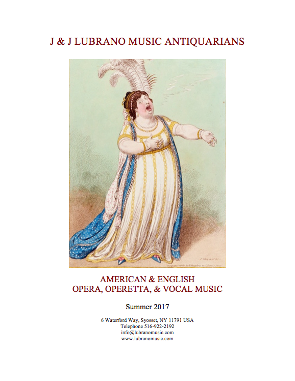 AMERICAN & ENGLISH OPERA, OPERETTA, & VOCAL MUSIC