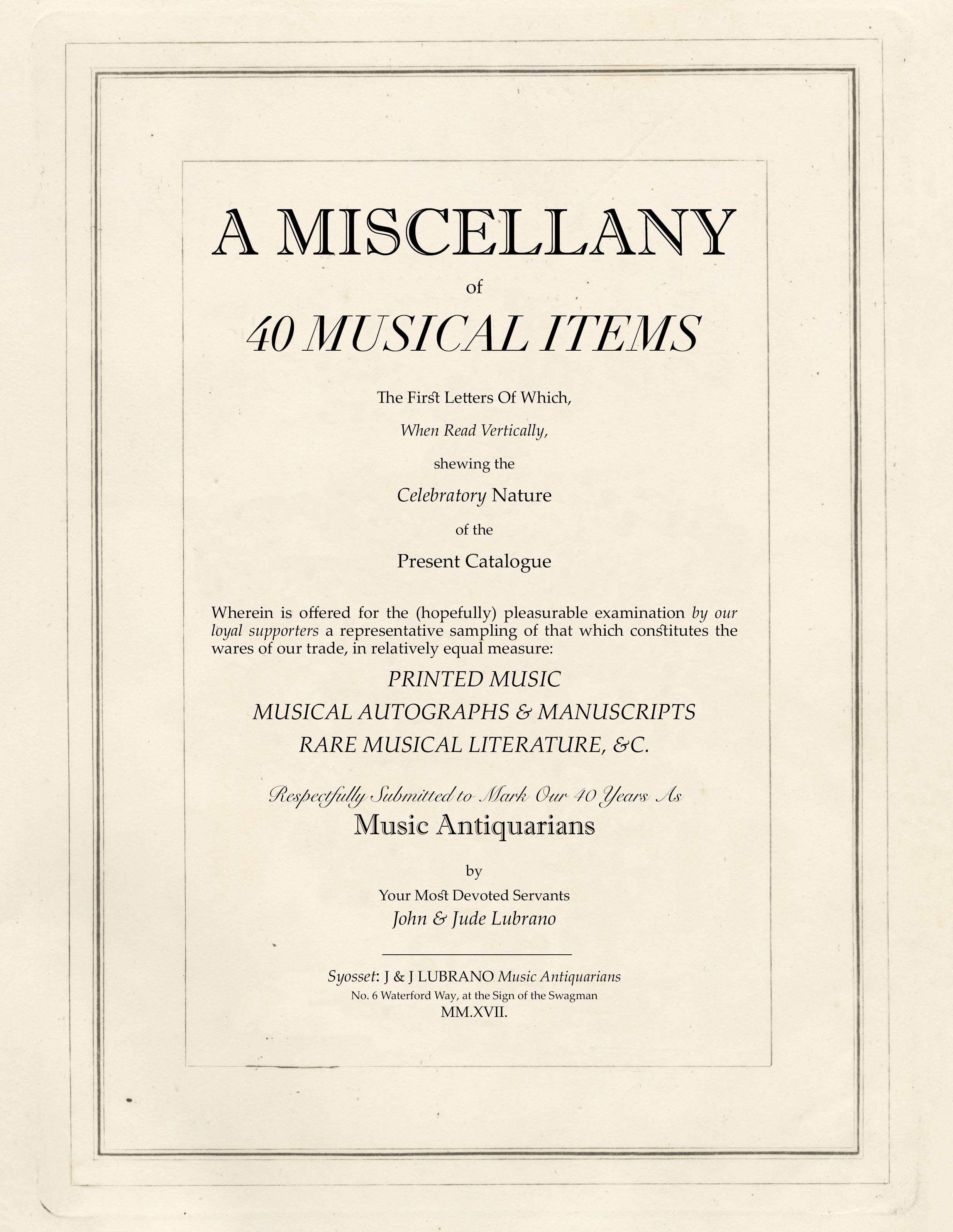 A Miscellany of 40 Musical Items