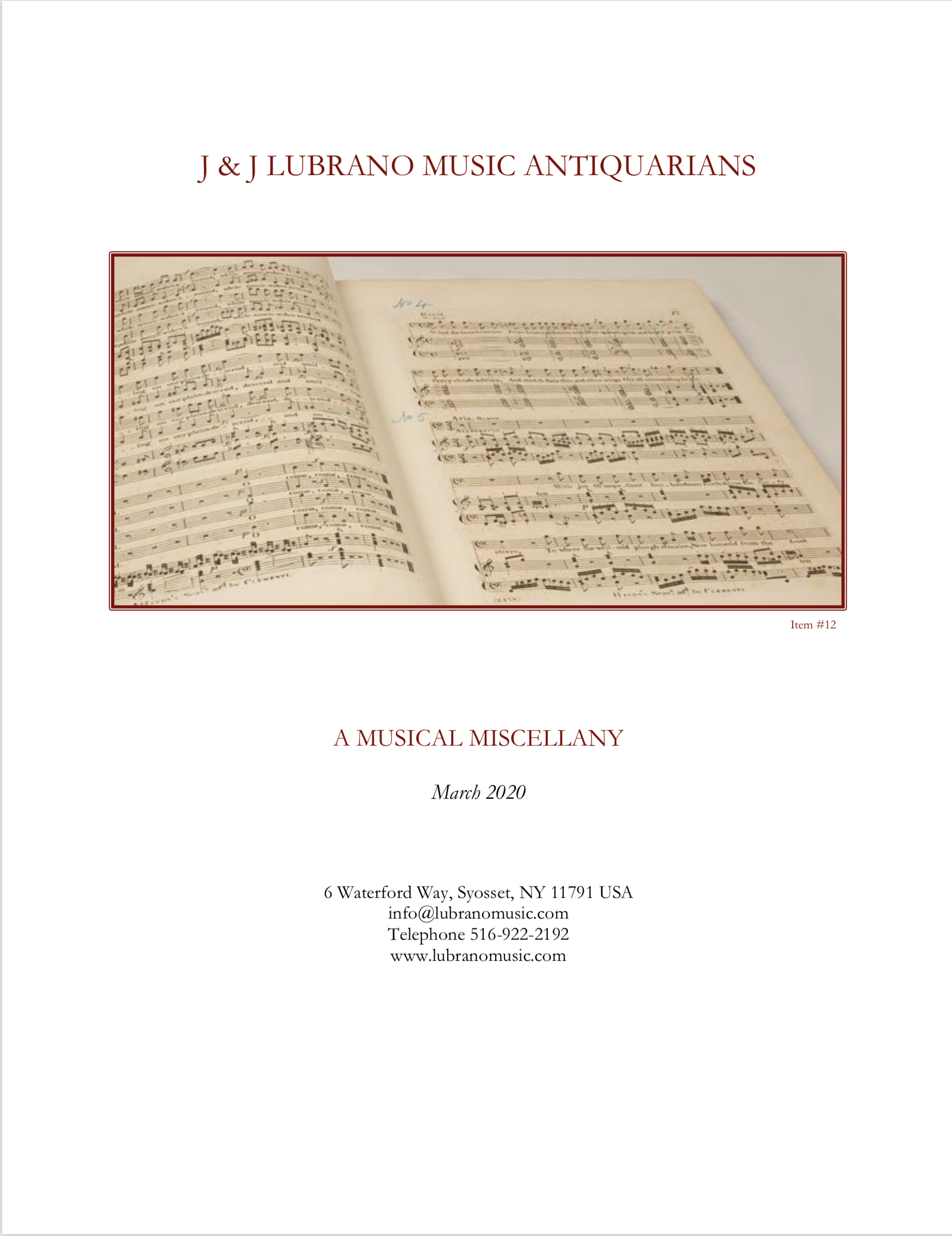 A Musical Miscellany