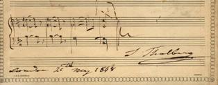 "Autograph musical quotation signed ""S. Thalberg"" Sigismond THALBERG."