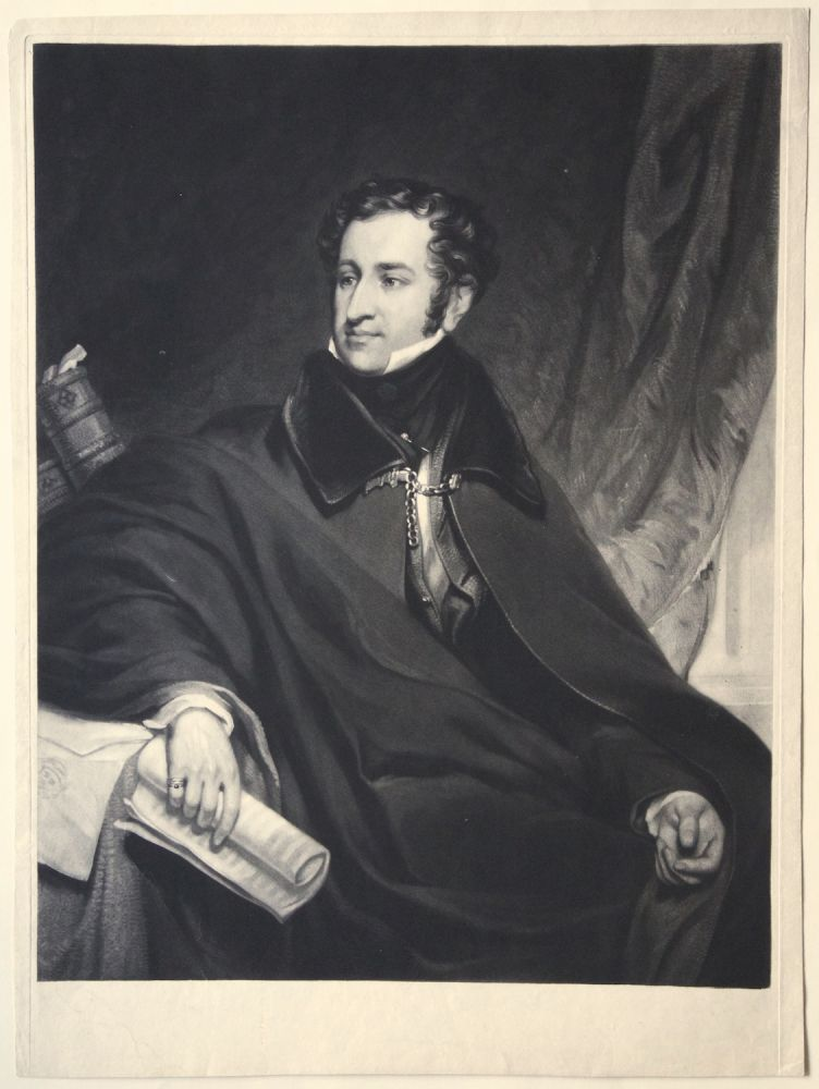 Mezzotint engraving by Samuel William Reynolds after the portrait by Thomas Foster. Sir Henry BISHOP.