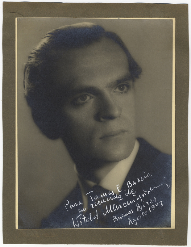 Fine original photograph signed and inscribed to Tomas E. Barcia. Witold MAŁCUŻYŃSKI.