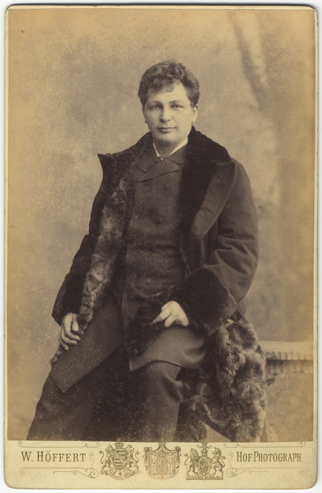 Three-quarter length cabinet card photograph in formal attire. Karl SCHEIDEMANTEL.