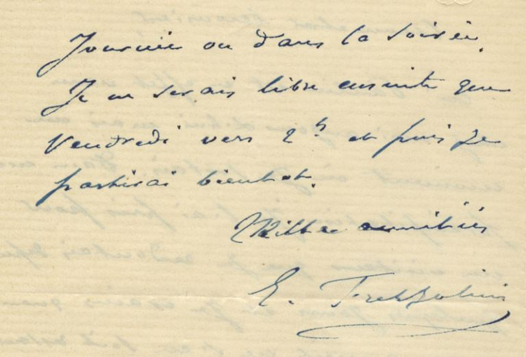 "Autograph letter signed ""E. Frezzolini"" to the French music publisher Marie Escudier. Erminia FREZZOLINI."