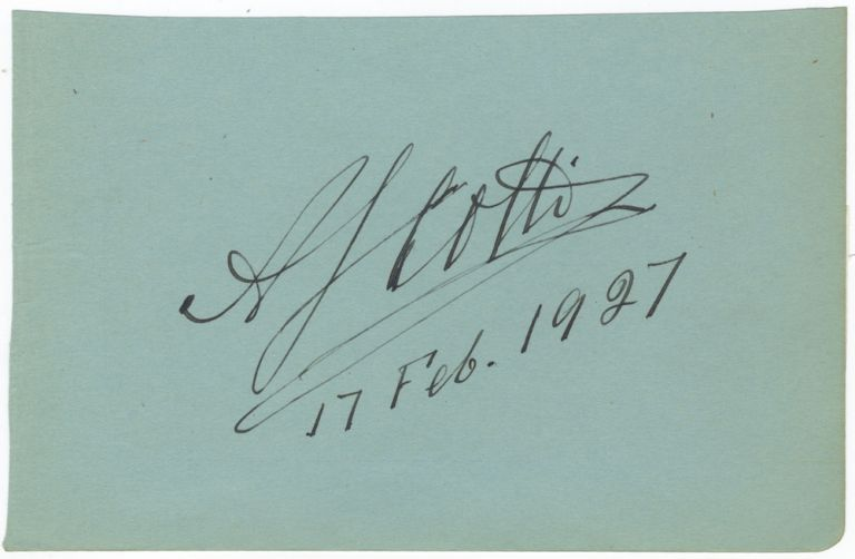 "Autograph signature (""A Scotti""). Antonio SCOTTI."