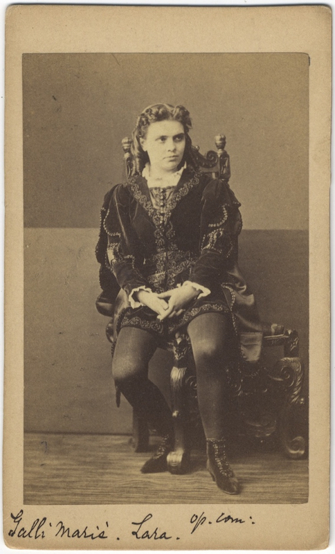 Carte De Visite Photograph Of The Noted French Mezzo GALLI MARIE