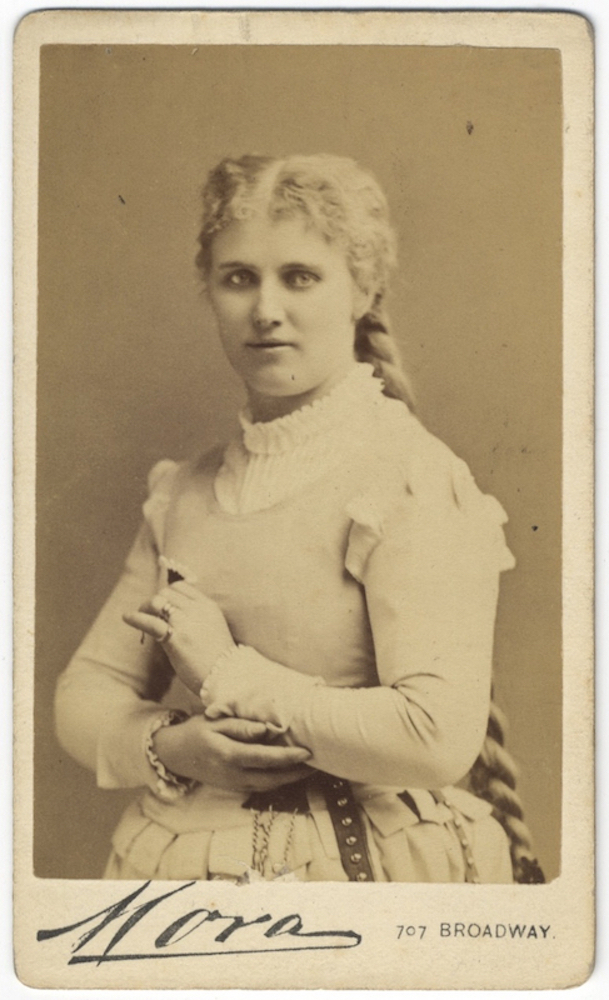 Waist-length carte-de-visite photograph of the noted Swedish soprano as Marguerite in Gounod's Faust. Christine NILSSON.