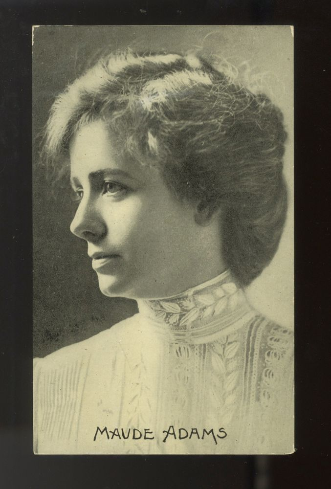 A collection of 8 postcard photographs and 1 lithographic portrait of prominent American and English actors and actresses active in the late 19th and early 20th centuries. PHOTOGRAPHS OF ACTORS.