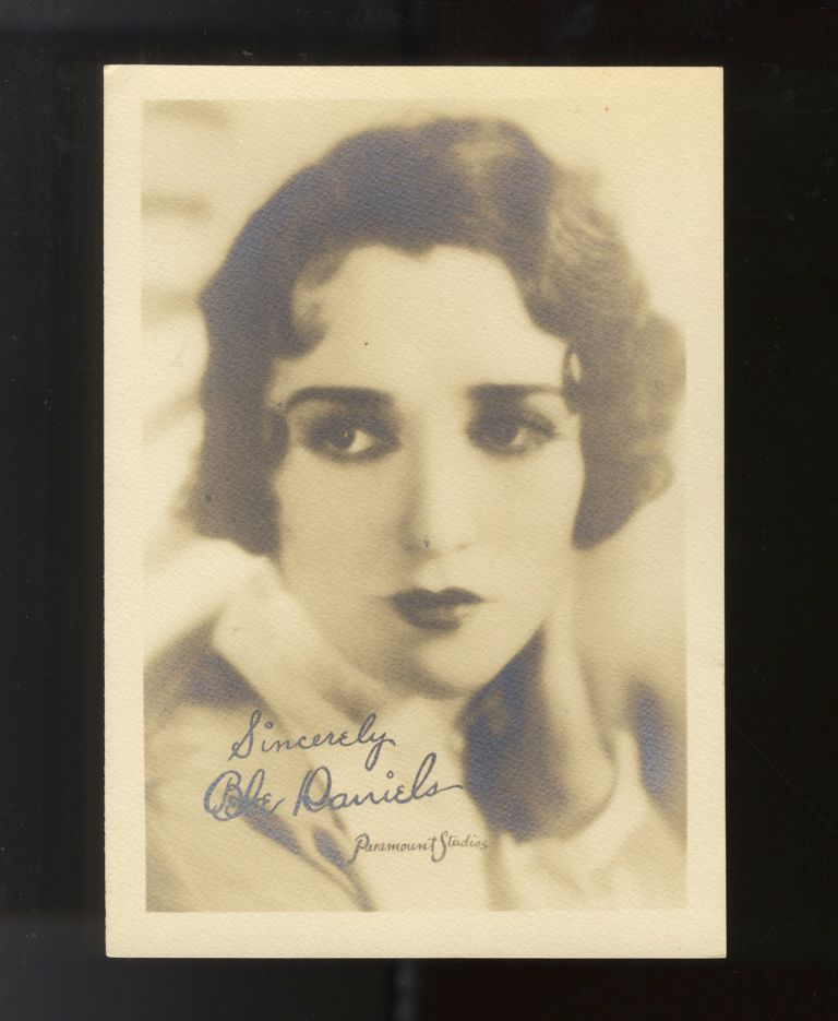Fine vintage photograph by Paramount Studios of the prominent American actress, singer, dancer, writer, and producer. Bebe DANIELS.