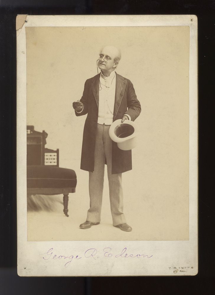 Oversize cabinet card photograph of the noted Broadway comic actor and stage manager. George R. d. 1899 EDESON.