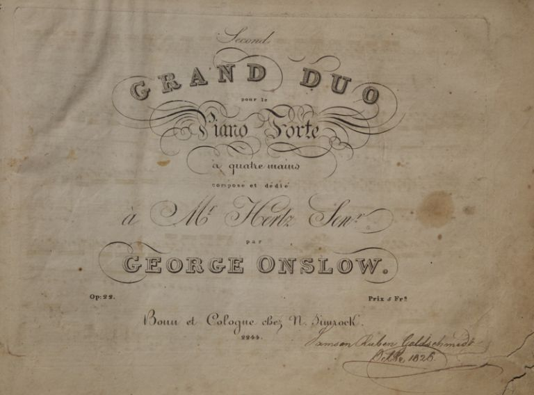 A collection of 19th century music for piano four-hands with German-American provenance. PIANO MUSIC - 19th Century - German-American.
