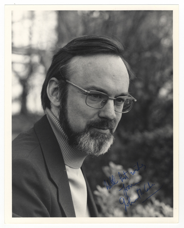 Bust-length photograph of the noted English composer and pianist, signed and inscribed. John McCABE.
