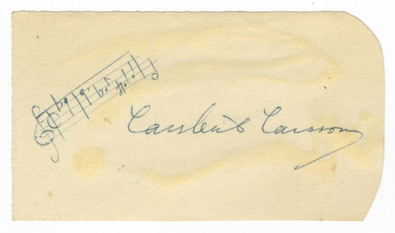 Autograph musical quotation signed in full. Lars-Erik LARSSON.