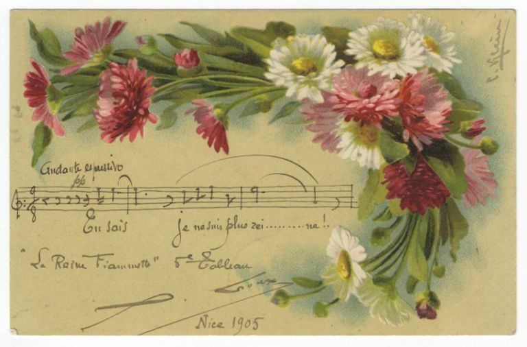 "Autograph musical quotation signed ""X. Leroux"" Xavier LEROUX."