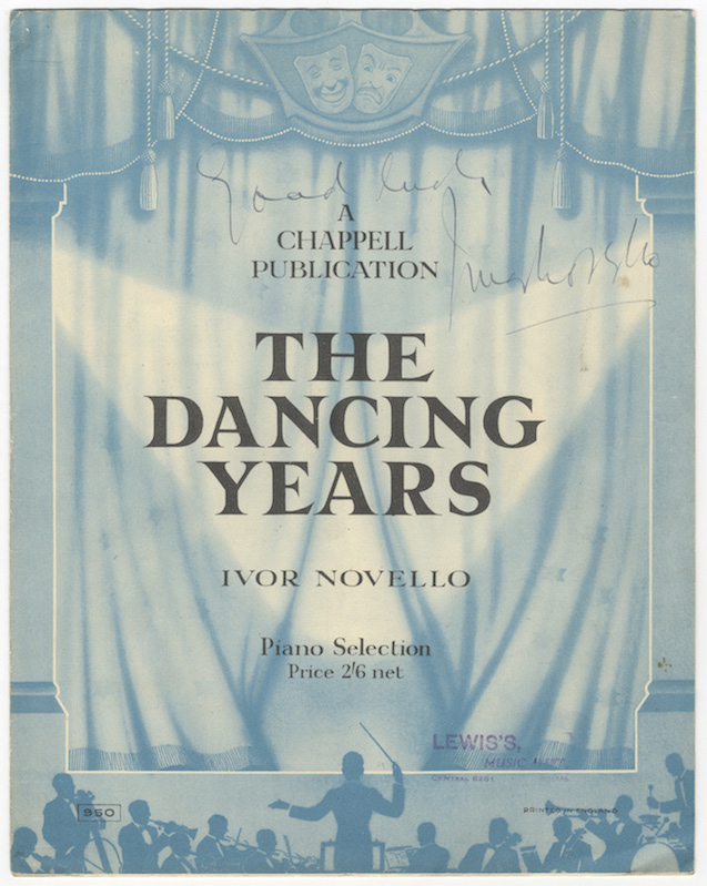 The Dancing Years... Piano Selection Price 2'6 net. Ivor NOVELLO.