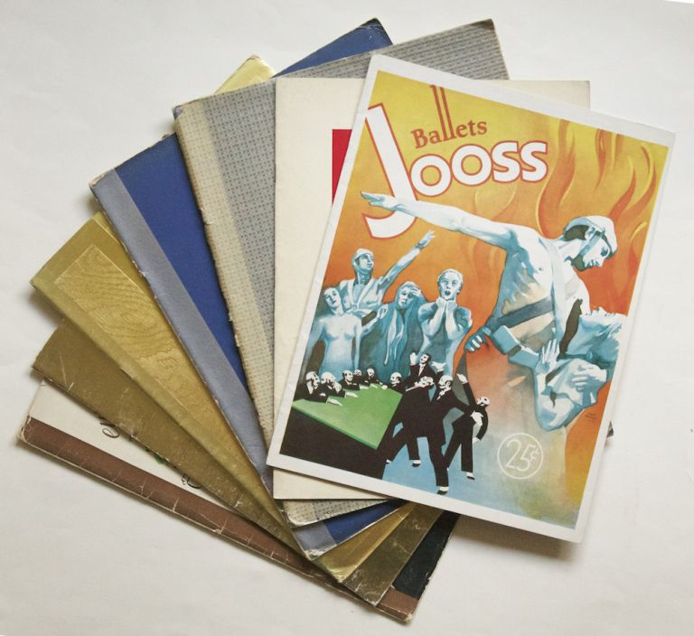 Collection of 7 souvenir programs. Kurt JOOSS, Ballets Jooss.