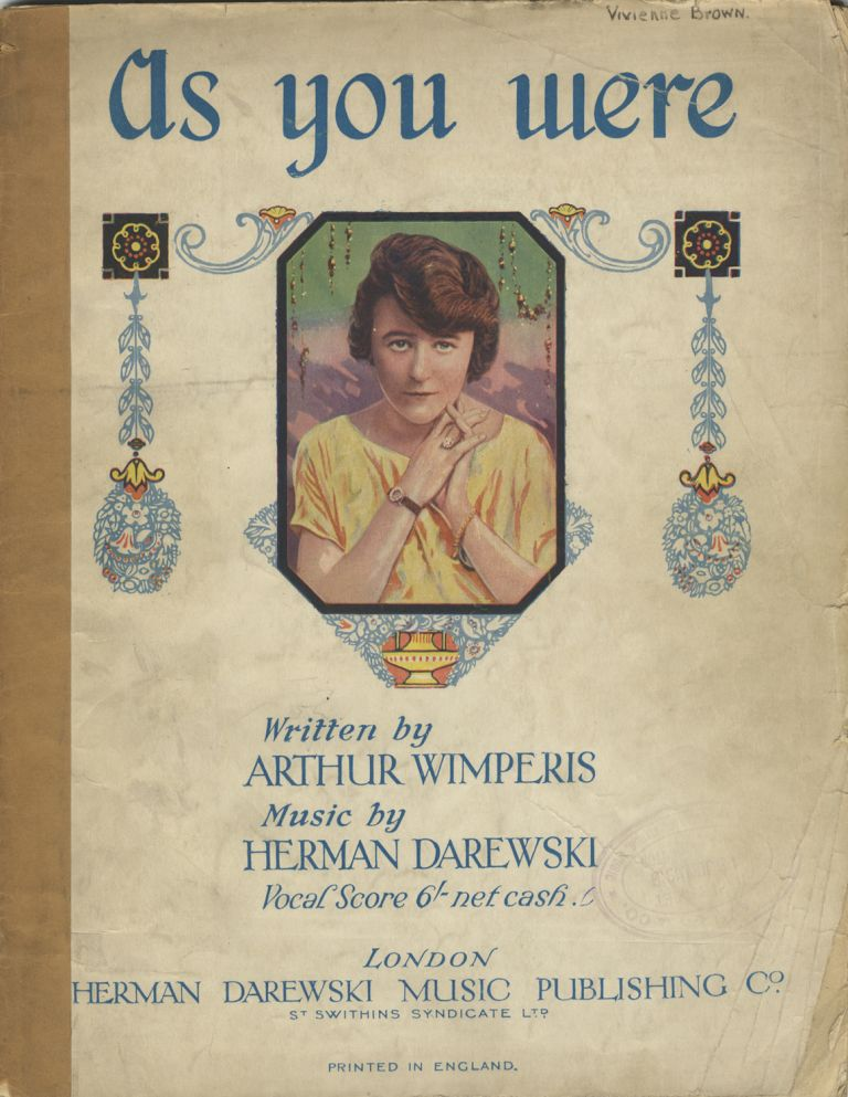 """As You Were A Fantastic Review by Arthur Wimperis. (Adapted from Pir's """"Plus ça Change""""). [Piano-vocal score]. Herman DAREWSKI."""