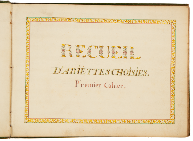 Recuil d'ariettes choisies. Late 18th century manuscript collection. François-André Danican PHILIDOR.