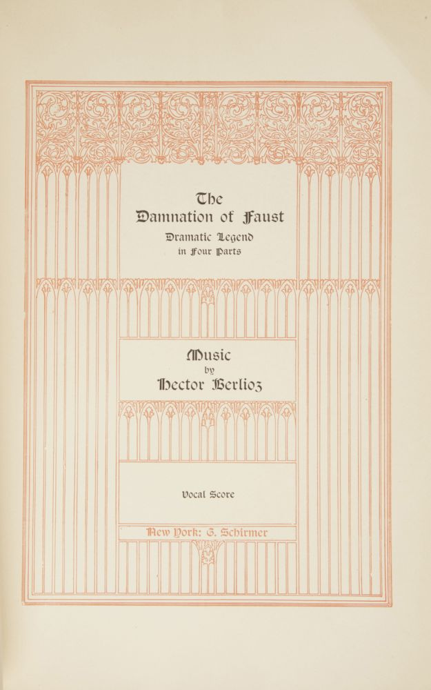 The Damnation of Faust Dramatic Legend in Four Parts... Vocal Score. [Piano-vocal score]. Hector BERLIOZ.