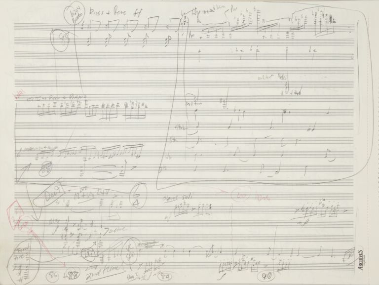 Concerto for Cello and Orchestra. Autograph working musical manuscript in score. Undated, but 1993. Richard b. 1956 DANIELPOUR.