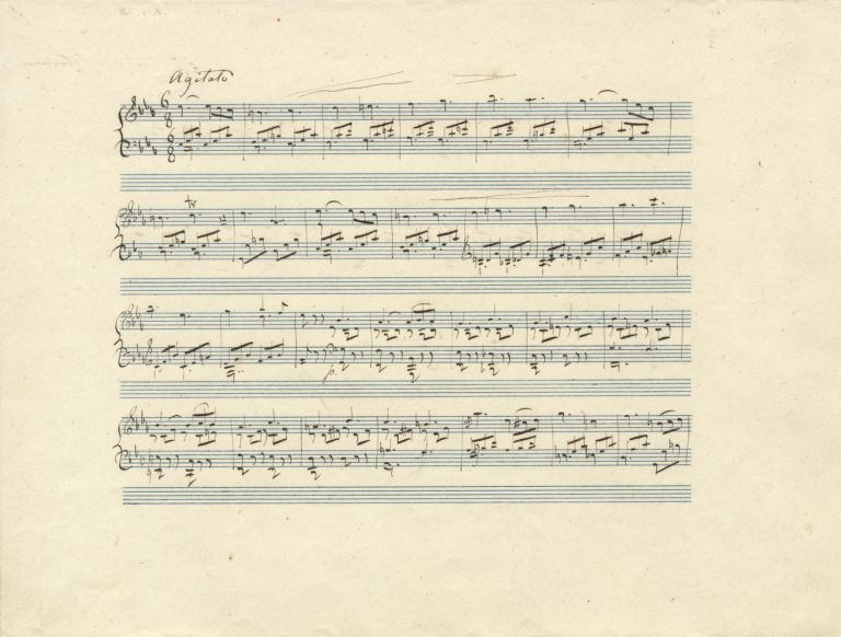 Autograph musical manuscript signed in full. Undated, but ca. 1840-1850. Charles MAYER.