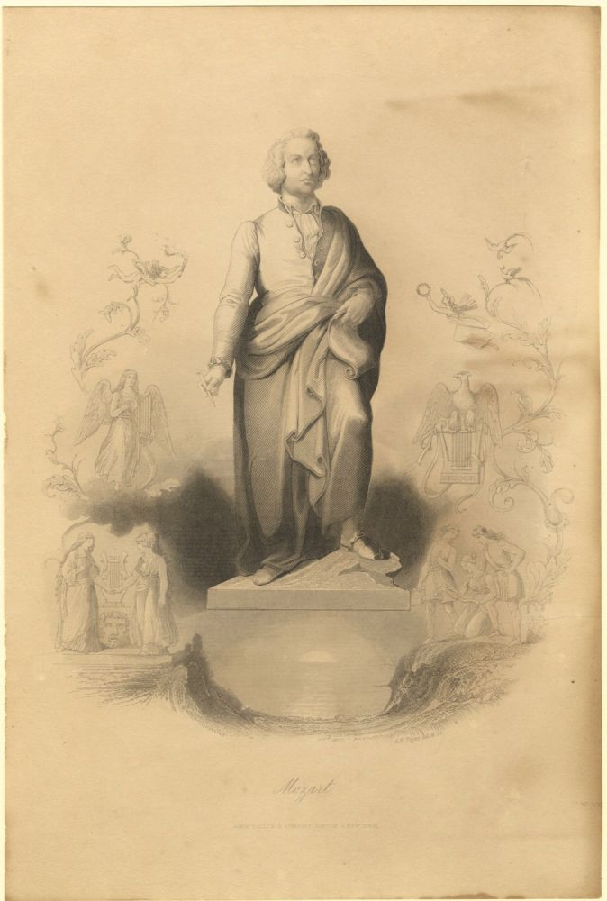 Portrait engraving by A. H. Payne. Wolfgang Amadeus MOZART.