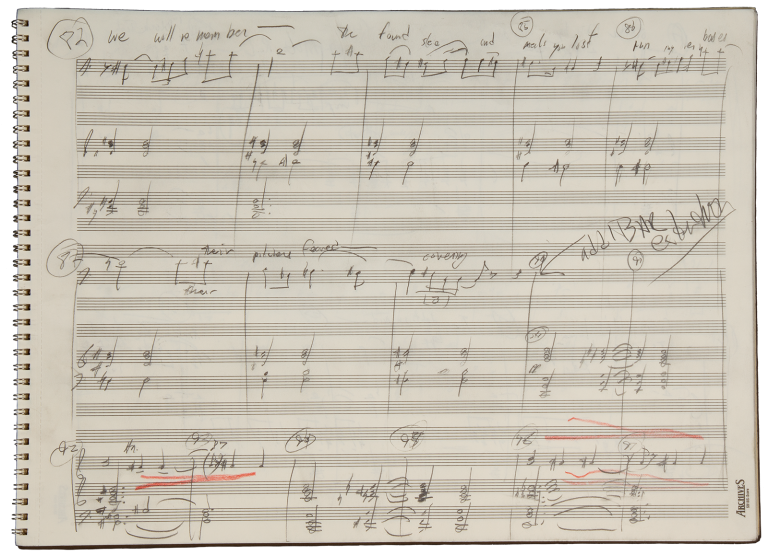 Pastime. A song cycle for baritone and orchestra. Autograph working manuscript. 2006. Richard b. 1956 DANIELPOUR.