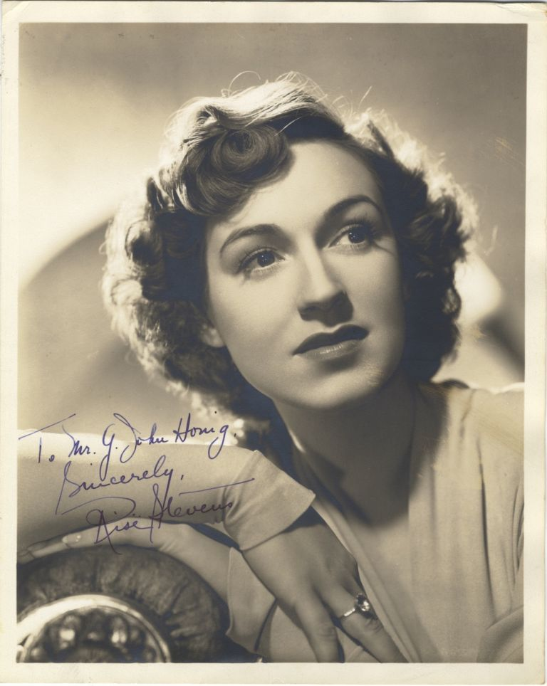 Portrait photograph by G. Maillard Kesslere with autograph signature of the noted American mezzo-soprano. Risë STEVENS.