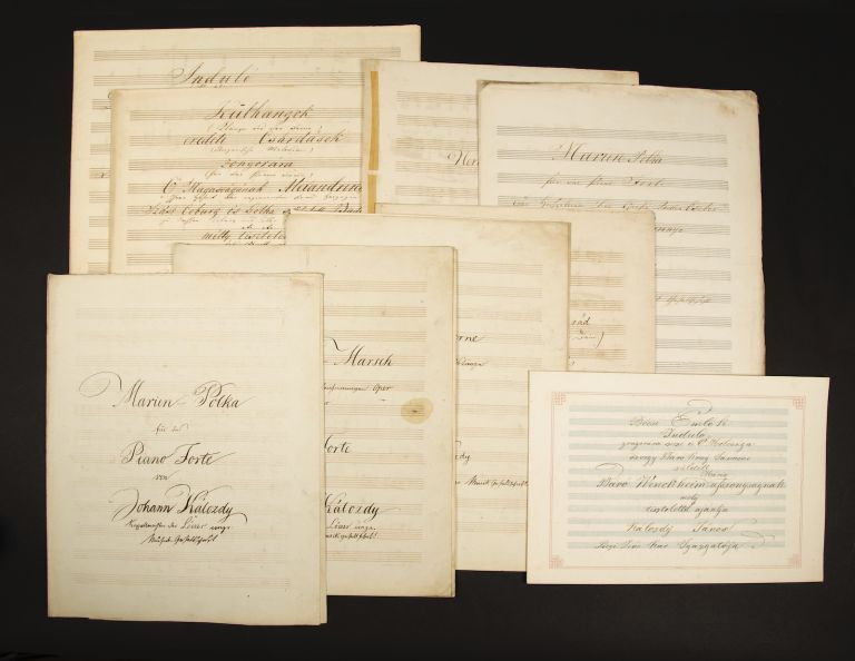 Collection of works for piano in manuscript, including two autographs. János KÁLOZDY.
