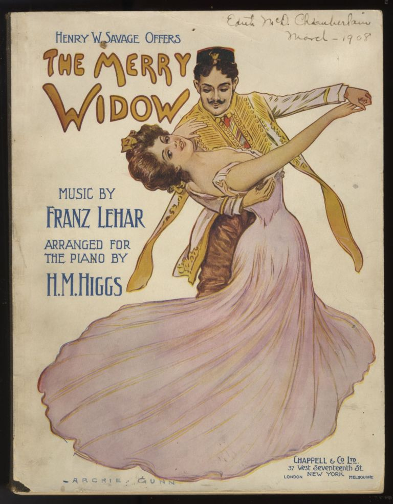 The Merry Widow. [Piano-vocal score]. Franz LEHÁR.