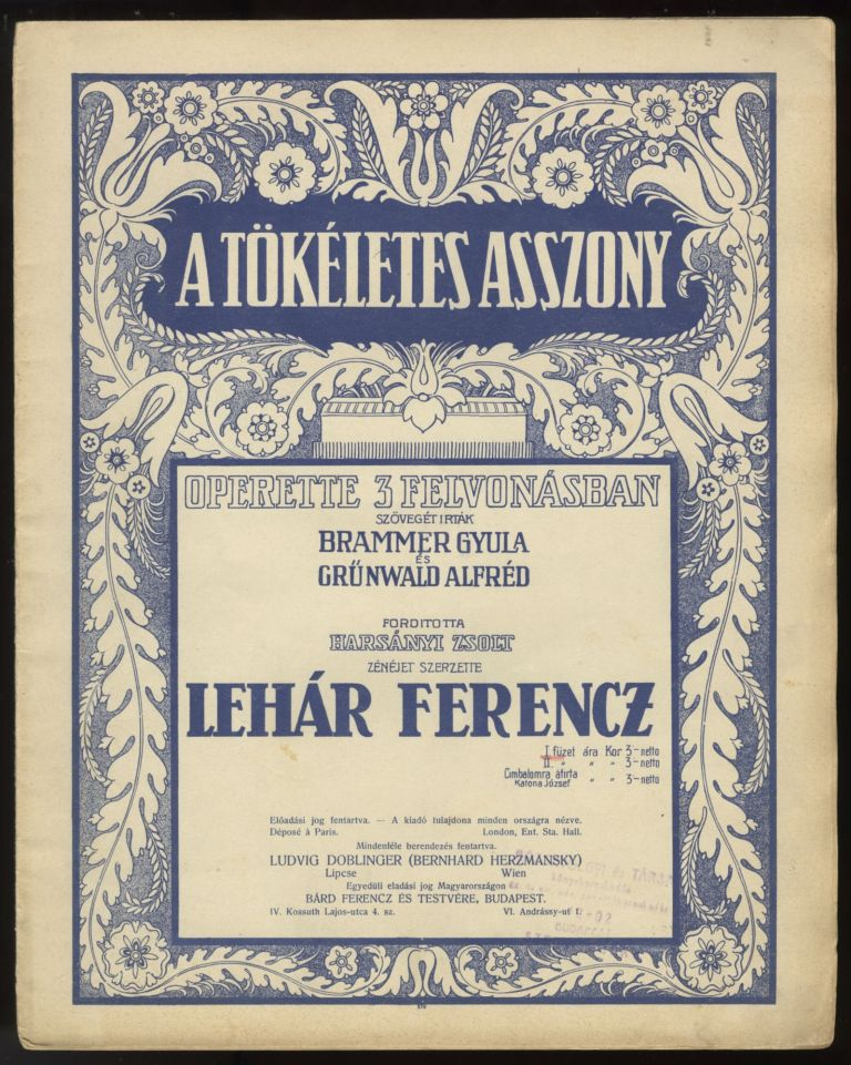 Collection of operetta excerpts. Franz LEHÁR.