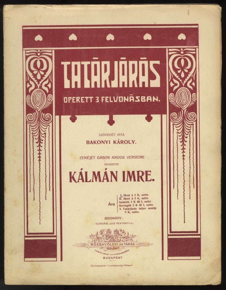Collection of operetta excerpts. Emmerich KÁLMÁN.