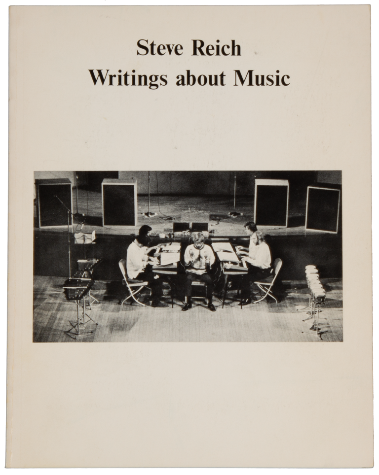 Writings about Music. Steve b. 1936 REICH.