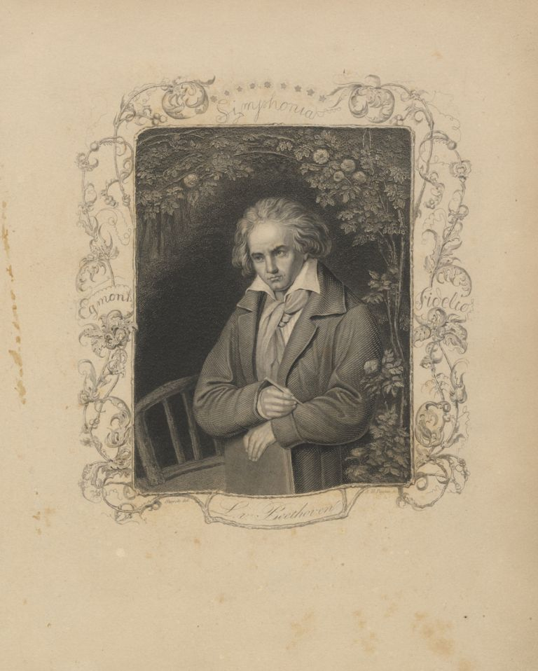 Portrait engraving by A. H. Payne after Storck. Ludwig van BEETHOVEN.