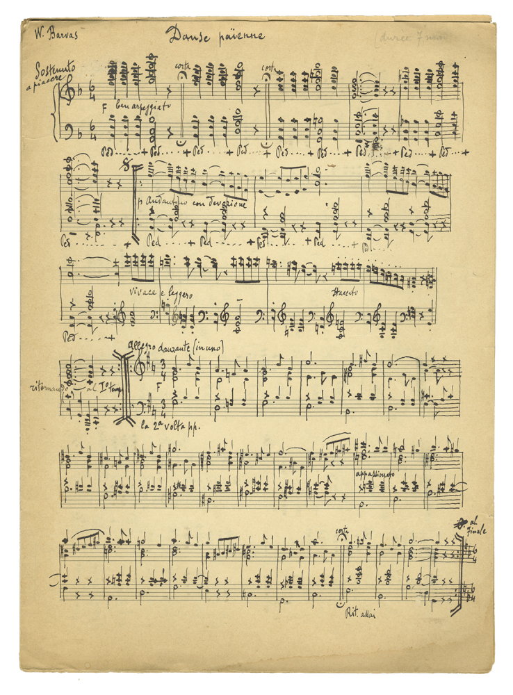 Collection of musical manuscripts, possibly autograph. Evanghelos BARVAS.