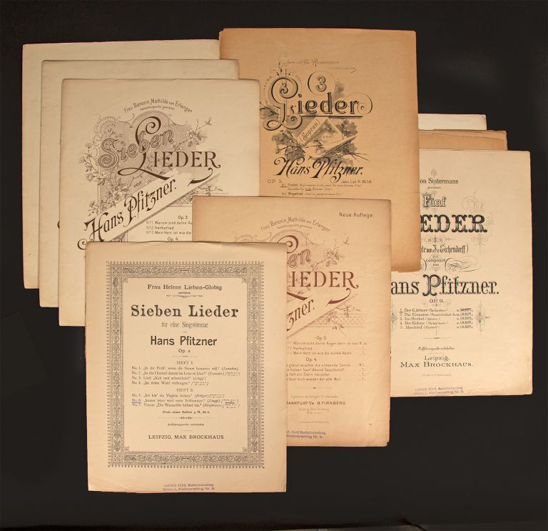 Collection of first and early editions of 30 songs for voice and piano. Hans PFITZNER.