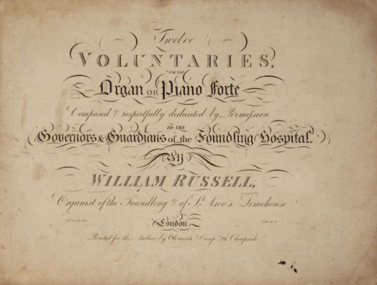 Twelve Voluntaries, For the Organ or Piano forte. William RUSSELL.