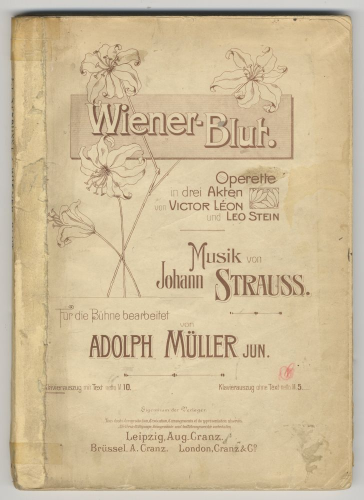 Wiener-Blut. [Piano-vocal score]. Johann STRAUSS, Jr.