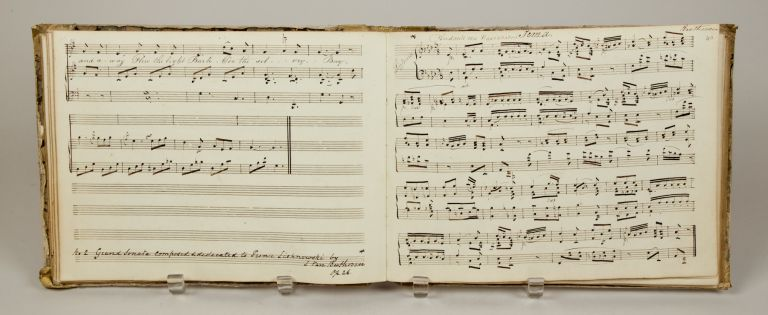 Musical manuscript containing operatic arias, vocal works, works for voice and keyboard and for solo keyboard, ca. 1830-40. VOCAL MUSIC - 19th Century - Manuscript.