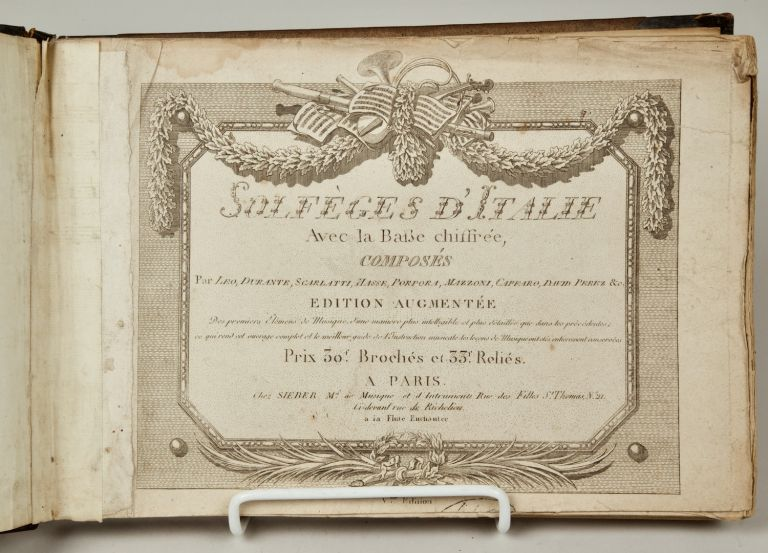 Solfèges d'Italie. Pierre Charles LEVESQUE, L. BECHE fl. late 18th century.