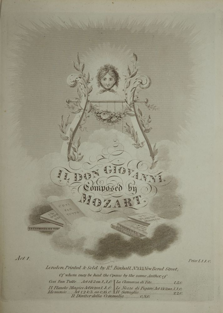 [K527]. Il Don Giovanni ... [Piano-vocal score, Act I only]. Wolfgang Amadeus MOZART.