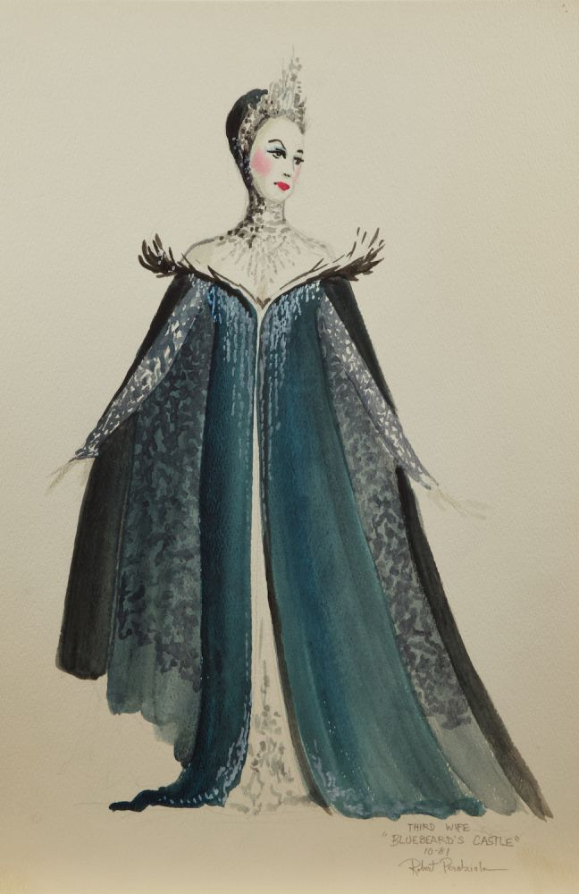 Collection of 102 original set and costume designs for 20th century productions of theatrical, musical, and operatic works by this award-winning American artist. Ca. 1980s. Robert b. 1961 PERDZIOLA.