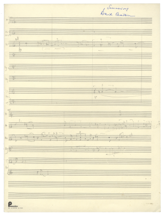 Summersong [Autograph sketchleaf in full score]