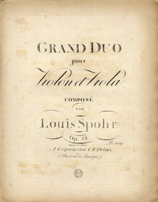 [Op. 13]. Grand Duo pour Violon et Viola. [Parts]. Louis SPOHR.