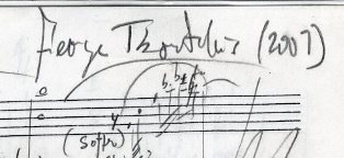 Bluebird, a setting for two female voices with instrumental accompaniment of Herman Melville's poem. Autograph musical manuscript. Signed and dated 2007. A complete working draft.