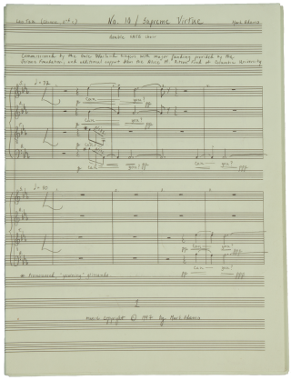 No. 10: Supreme Virtue [Autograph manuscript]