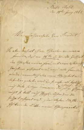 "Autograph letter signed to ""My esteemed Mr. Benedict"" [likely conductor Julius Benedict]. Jan..."