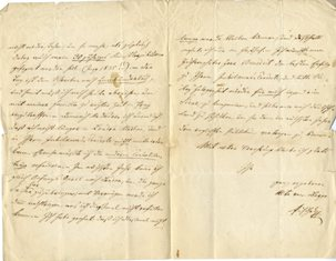 """Autograph letter signed to """"My esteemed Mr. Benedict"""" [most probably the conductor Sir Julius Benedict 1804-1885]"""