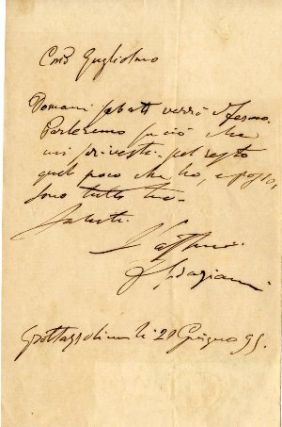 Group of 4 letters consisting of three autograph letters and one secretarial letter. Francesco...