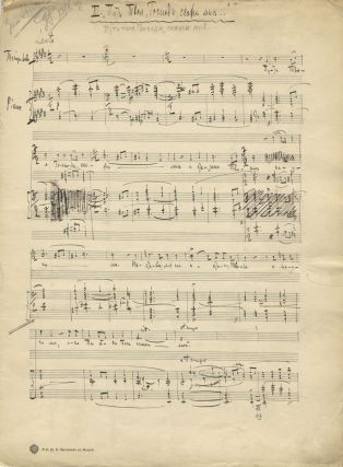 Putyi tvoi, Gospodi, skaji mne [Thy Ways, O Lord, Tell Me]. Autograph musical manuscript of this vocal work for tenor solo, mixed chorus and piano. In score. Aleksandr Tikhonovich GRECHANINOV.